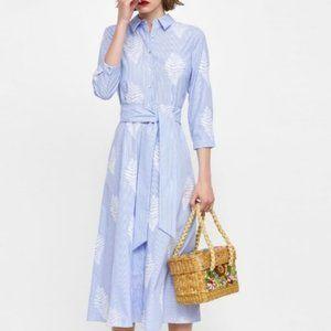 Bloggers Favorite Zara Embroidered Stripe Dress S